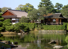 Quiet place. Amazing garden in Katsura Imperial Villa-Kyoto,Japan Stock Image