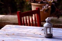 Quiet Place. Quiet table & chair in a garden in Mallorca Stock Photos