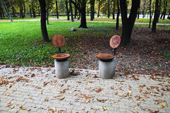 Quiet place of Minsk Kupala park Royalty Free Stock Photo