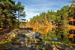Quiet place in the nature in a european northern country Stock Photos