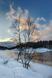 Quiet place in the nature in a european northern country, Sweden, Bagarmosen Stock Images