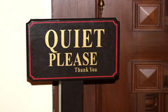 Quiet Please royalty free stock image