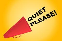 Quiet Please! concept Stock Image
