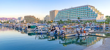 The quiet promenade in Eilat Royalty Free Stock Photography