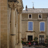 Quiet Provence village at noon Royalty Free Stock Photography