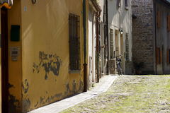 The quiet provincial street in Italy on a warm summer day Stock Photography