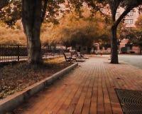Quiet public park Stock Image