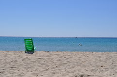 Quiet relax rest sea. Spiaggine chair Stock Image