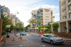 Quiet residential city area Stock Image
