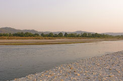 Quiet River in Nepal Stock Photo
