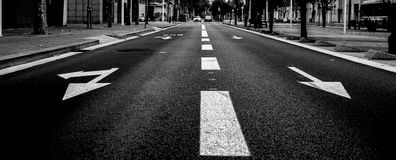Quiet road in Barcelona Royalty Free Stock Photo