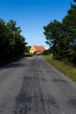 On an quiet road. Fårö is a small Baltic Sea island just off north of the island of Gotland, itself off mainland Sweden's southeastern coast. It is the stock image