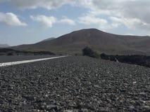Quiet road. In Lanzarote Stock Images