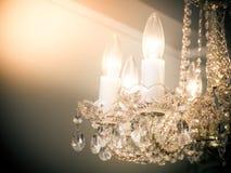 Quiet room chandelier Stock Image