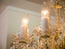 Quiet room chandelier Stock Photography