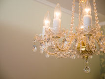 Quiet room chandelier Royalty Free Stock Images