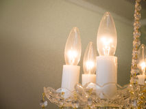 Quiet room chandelier Royalty Free Stock Image