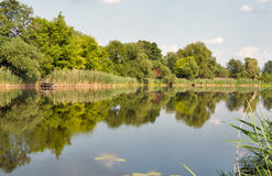 Quiet Ros river in summer, Ukraine Royalty Free Stock Image