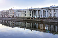 Quiet russian background. Quiet historic backgroung of Saint Petersburg, Russia Stock Image