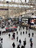 Quiet Saturday at Waterloo station Royalty Free Stock Images