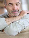 Quiet senior man at home Royalty Free Stock Images