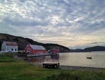 The quiet serene waters of Trinity Newfoundland royalty free stock photography
