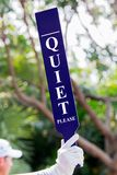 Quiet sign on the tee Stock Image