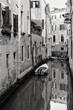 Quiet small Canal in Venice, Italy Royalty Free Stock Photography