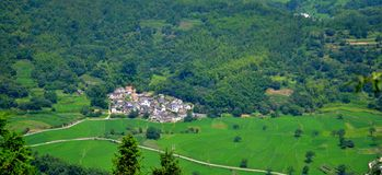 A quiet small village Stock Image