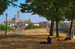 Quiet Spot at the Medici Fortress - Siena Royalty Free Stock Photos