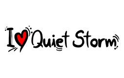 Quiet Storm music love. Creative design of Quiet Storm music love royalty free illustration