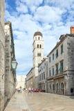 Quiet Stradun in Dubrovnik Stock Image