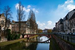 Quiet Strasbourg street royalty free stock image