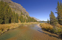 Quiet Stream Leading to a Mountain Lake Royalty Free Stock Photography
