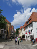 Quiet street in German town Royalty Free Stock Photography