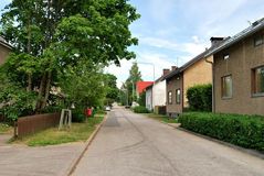 A quiet street in Lappeenranta, Finland Royalty Free Stock Photos