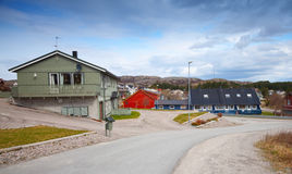 Quiet street in Norwegian countryside Royalty Free Stock Images