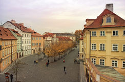 Quiet street in the old Prague Royalty Free Stock Photos