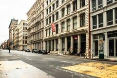 Quiet street in SoHo in Manhattan during the Covid-19 Coronavirus Pandemic