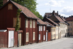 Quiet street in Stockholm. A quiet street with old buildings in Stockholm Royalty Free Stock Photography