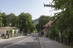 Quiet streets of Sinaia mountain resort in the morning Stock Photography