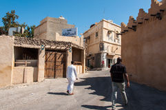 Quiet streets of Tarout Island, Saudi Arabia Royalty Free Stock Images