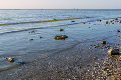 Quiet summer evening on the beach Royalty Free Stock Photography