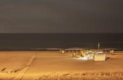 Quiet summer night on the beach Stock Photo