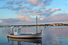 Quiet Sunset In Porto Colom Royalty Free Stock Photo