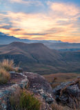 Quiet sunset over mountains Royalty Free Stock Photos