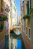 Quiet Venetian Canal Royalty Free Stock Photos