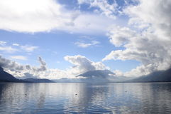 Quiet view of Annecy lake Stock Photography