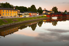 Quiet warm summer evening in Porvoo. Royalty Free Stock Image