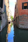 Quiet Water Alley in Venice Italy Stock Image